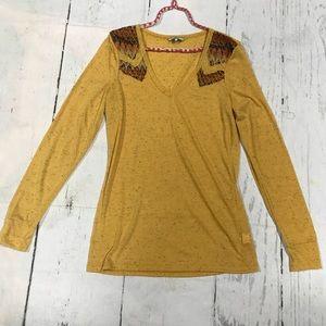 BKE Yellow long sleeve Shirt Size Large
